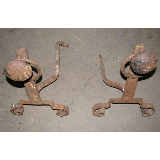 Antique Arts & Crafts Andirons - A Pair - Image 6 of 7