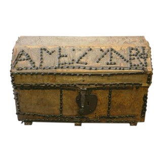 18th Century Spanish Parchment Box For Sale