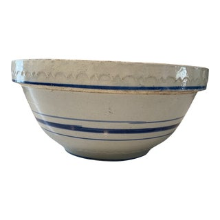 Mid 19th Century Yellow Ware Bowl For Sale