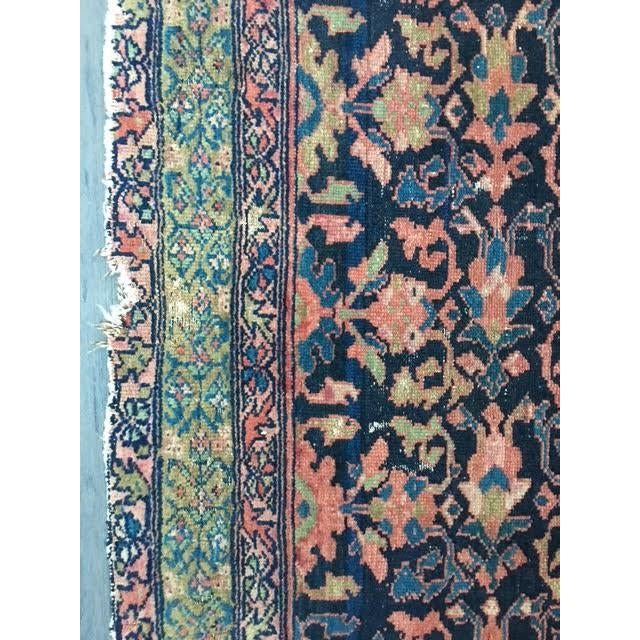 "Antique Persian Hamadan Rug - 5'4"" X 6' - Image 10 of 10"