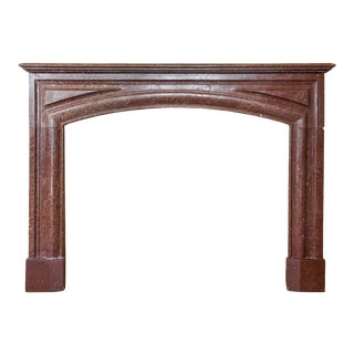 Louis XIV Style Marble Mantelpiece with Bolection Molding, circa 1850 For Sale