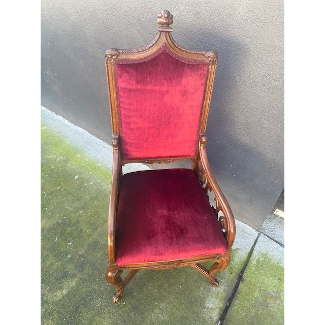19th C. English Gothic Single Armchair For Sale - Image 11 of 13