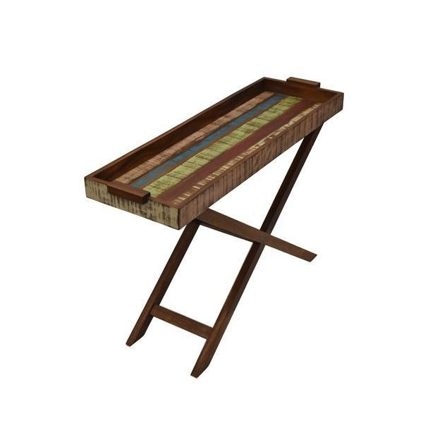Reclaimed Wood Tray Table For Sale In Los Angeles - Image 6 of 8