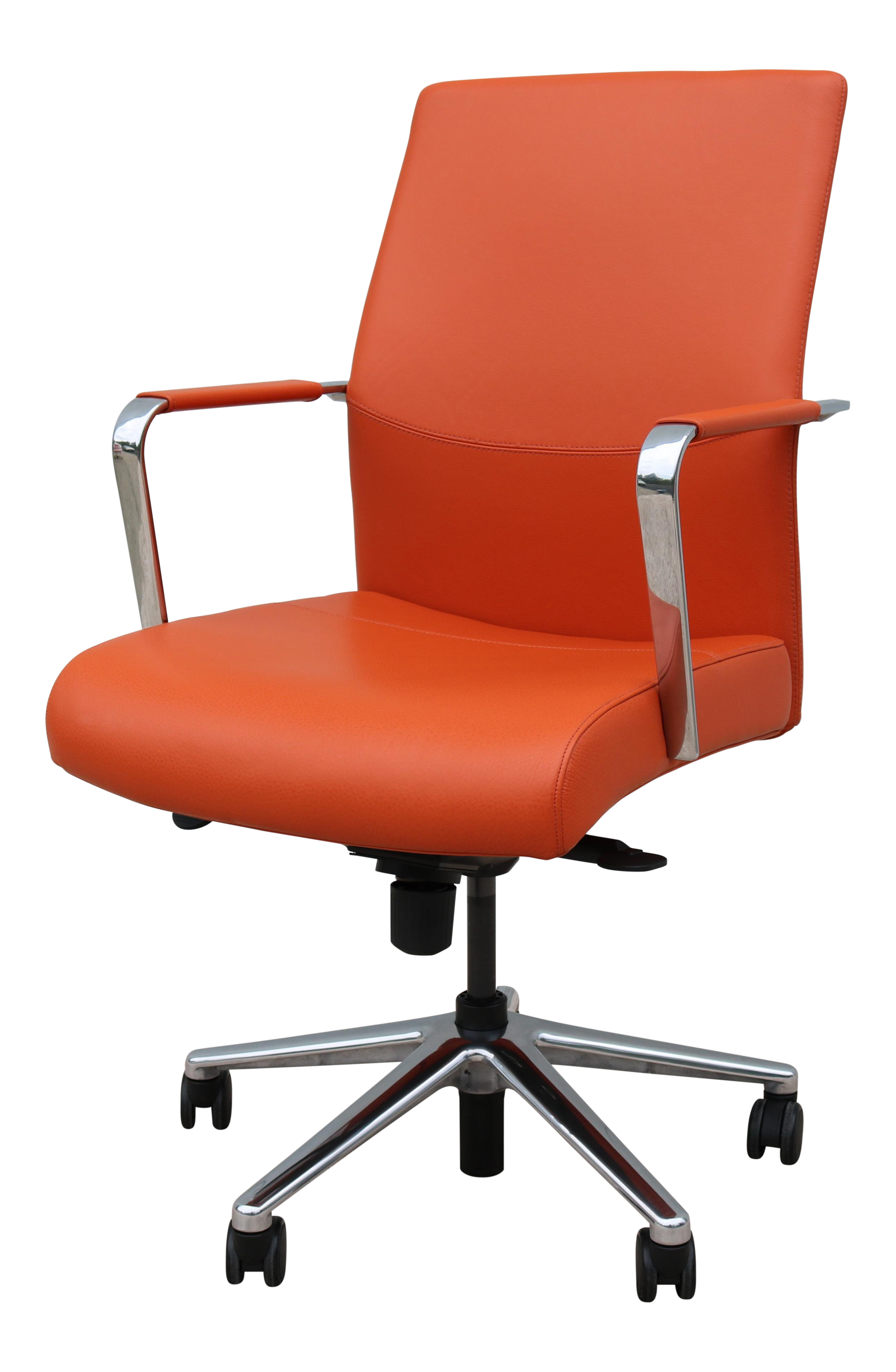 Strange Keilhauer Modern Vanilla Ergonomic Orange Leather Executive Desk Chair Caraccident5 Cool Chair Designs And Ideas Caraccident5Info