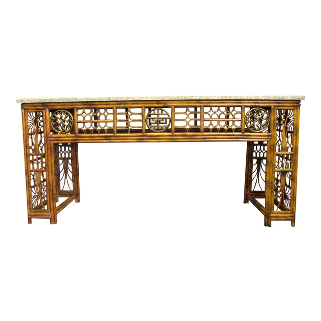 Maitland Smith Chippendale Style Console - Image 1 of 6