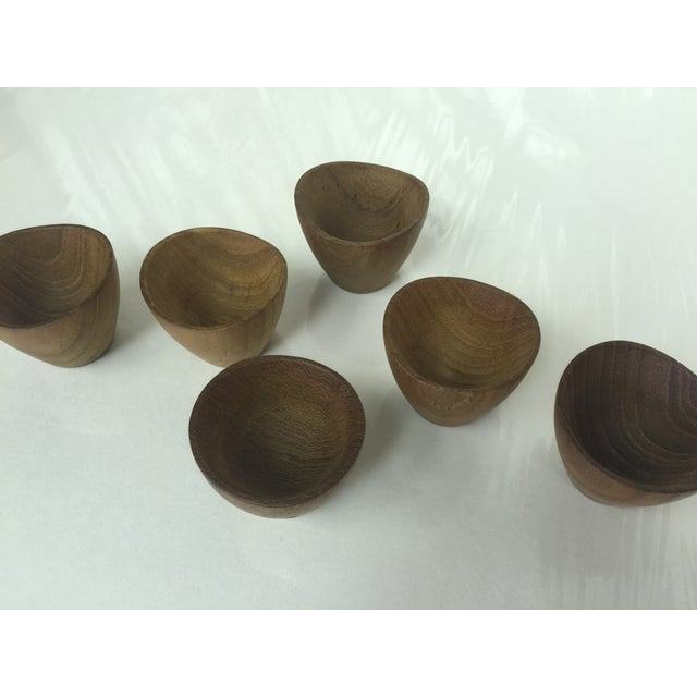 Ernst Henriksen Tiny Danish Teak Bowls - Set of 6 - Image 10 of 11