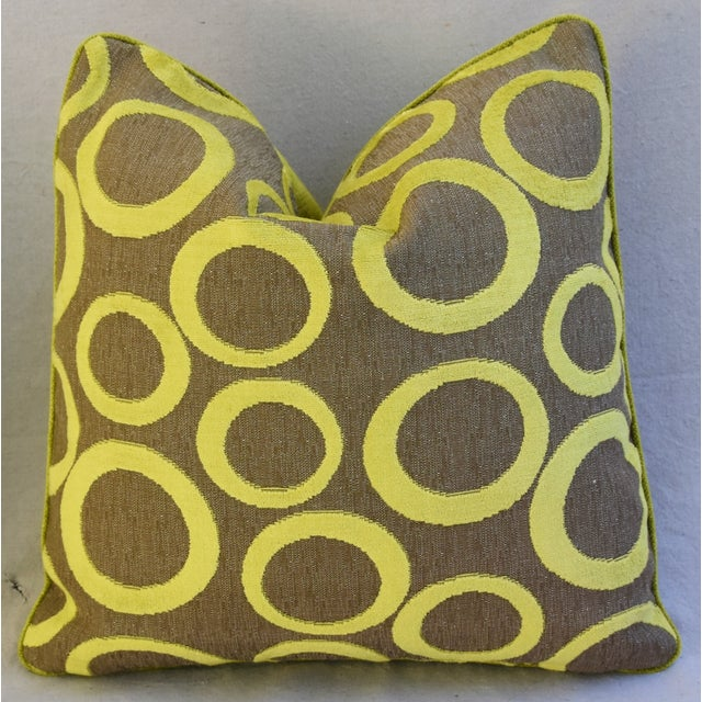 Hollywood Glam Lime Opuzen Cut Velvet Pillows - a Pair - Image 4 of 11