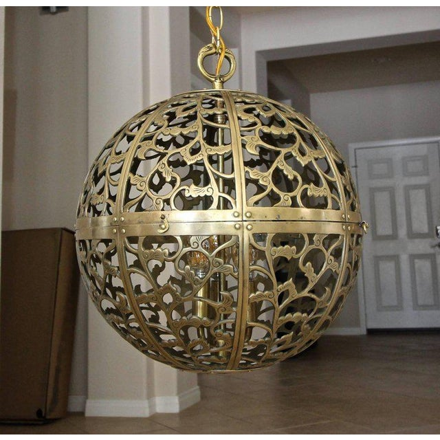 Large japanese asian pierced filigree brass ceiling pendant light large japanese asian pierced filigree brass ceiling pendant light image 10 of 11 aloadofball Choice Image