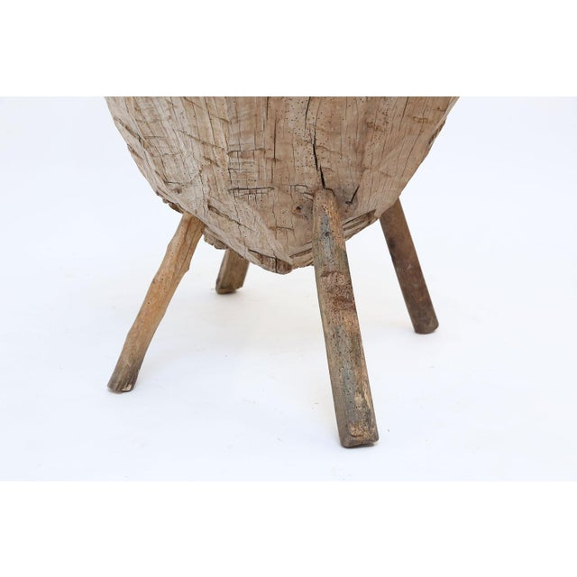 Primitive Butchers Block Table For Sale - Image 9 of 13