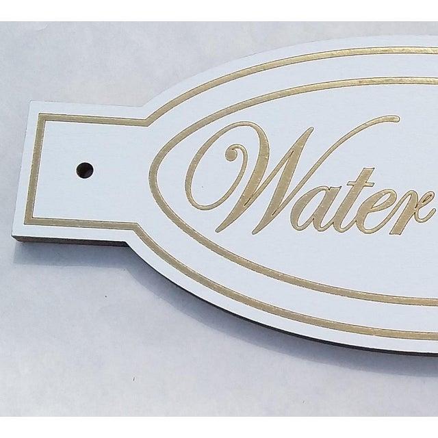 Elegant Wood Water Closet Sign   Chairish