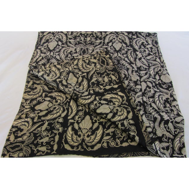Black & Gold French Silk Damask Throw - Image 7 of 9