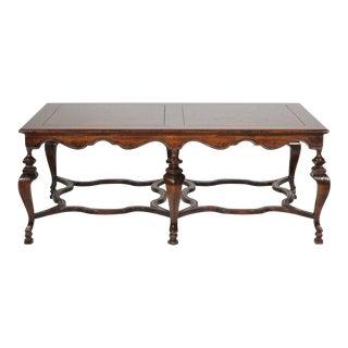 20th Century Italian Francesco Molon Walnut and Fruitwood Large Coffee Table