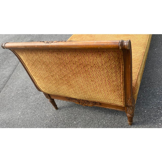 1940s French Walnut Sleigh Daybed For Sale - Image 4 of 12