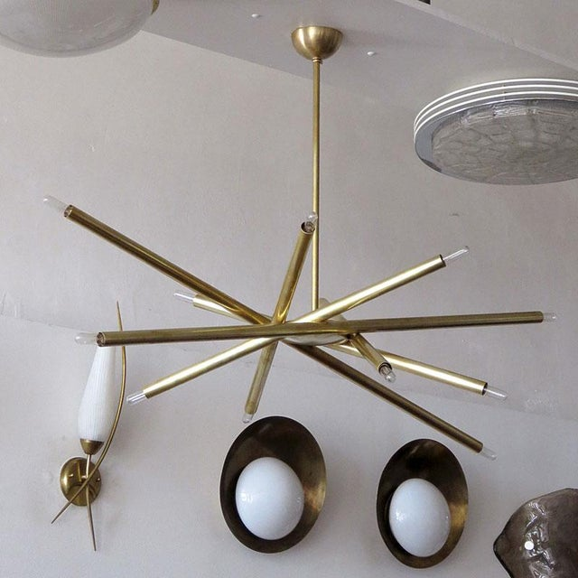 Contemporary Gallery L7 Vl-6 Brass Chandelier For Sale - Image 3 of 11