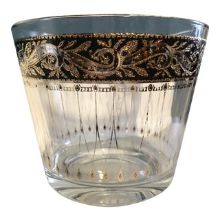 Culver Ltd. Mid-Century Modern, Hollywood Regency Glass Ice Bucket For Sale