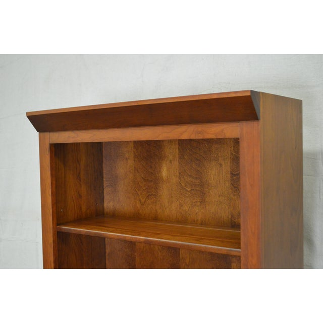 Ethan Allen American Impressions Solid Cherry Pair of Tall Open Bookcases. AGE/COUNTRY OF ORIGIN – Approx 20 years,...