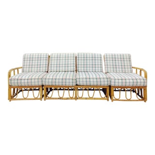 Heywood - Wakefield Rattan & Bamboo Sectional Sofa- 3 pc. For Sale