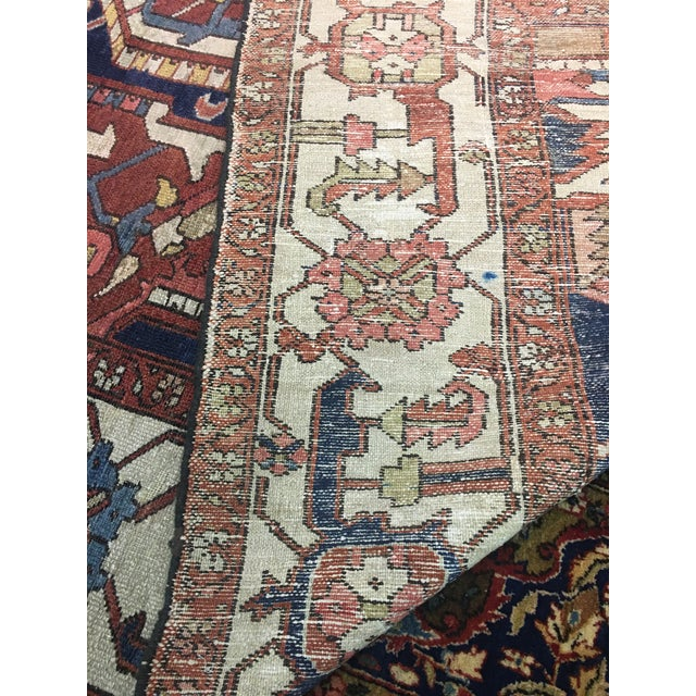 "Pasargad NY Antique Persian Serapi Rug - 9'8"" x 13'4"" For Sale - Image 4 of 8"
