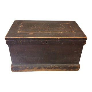 Antique Pine Carpenter Box For Sale