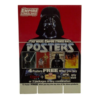 Star Wars The Empire Strikes Back Cardboard Advertising Display For Sale