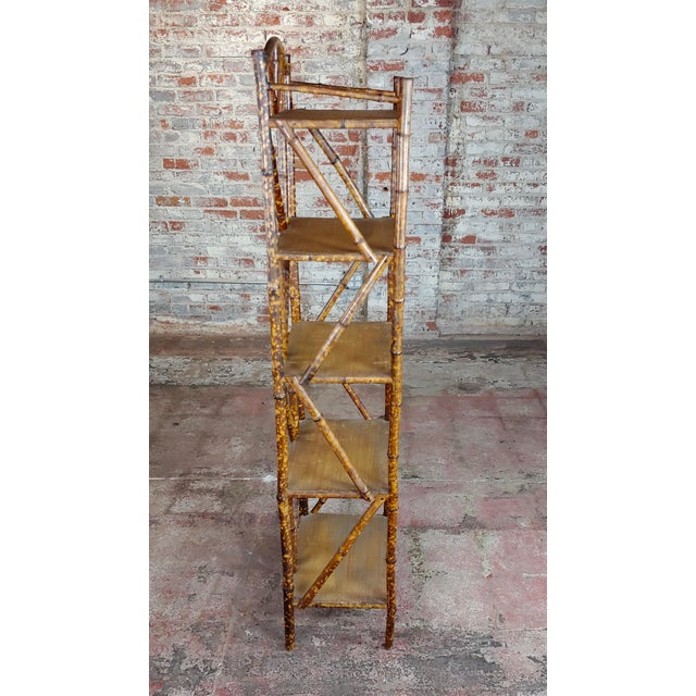 19th Century 19th Century Original Victorian 5 Tier Bamboo Bookstand For Sale - Image 5 of 9