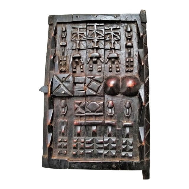 Early 20th Century African Carved Granary Door From Africa - Mali For Sale