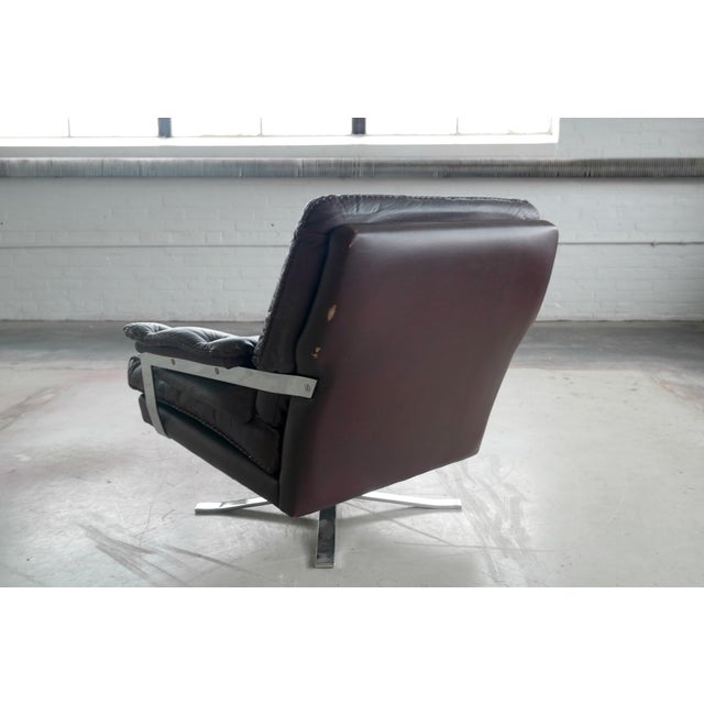 Arne Norell Hand-Stitched Leather Lounge Chair - Image 8 of 10