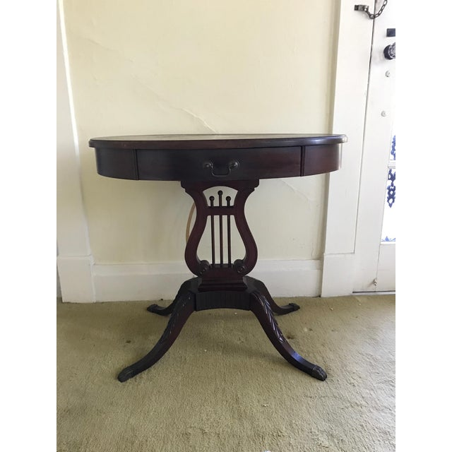 1943 Kimball Harp Table Solid Mahogany For Sale - Image 11 of 11