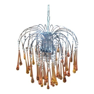 Authentic Italian Murano Drop Glass Chandelier -