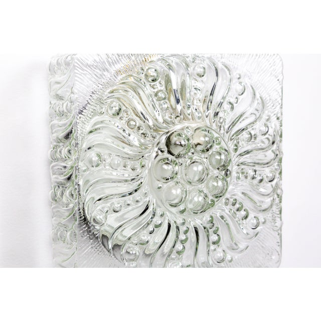 Glass Mid-Century Radial Bloom Glass Flush Mount For Sale - Image 7 of 12
