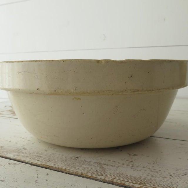 Ceramic Antique Stoneware Mixing Bowl For Sale - Image 7 of 7