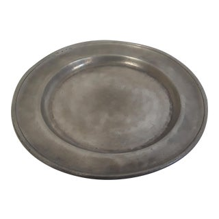 French Style Pewter Plate For Sale