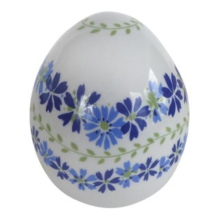 Fuerstenberg, Germany 1975 Limited Edition Ceramic Egg W/ Box