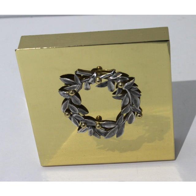 Vassilis Zoulias,. Athens Haute Couture Decorated brass box,
