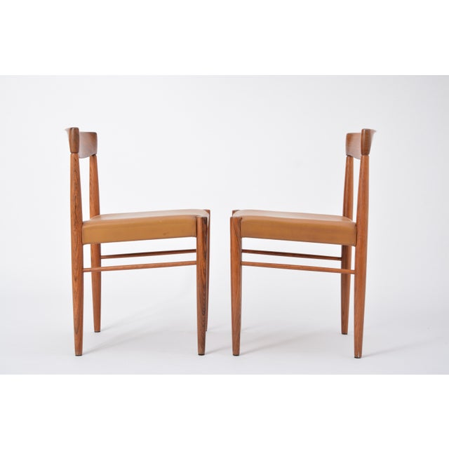 Brown Set of 8 Midcentury Dining Chairs by h.w. Klein for Bramin For Sale - Image 8 of 12
