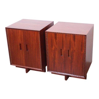 "Frank Lloyd Wright ""Taliesin"" Nightstands for Henredon For Sale"