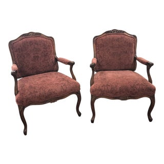 French Louis XV Fauteuils - a Pair For Sale