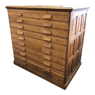 Antique Architect's Cabinet For Sale
