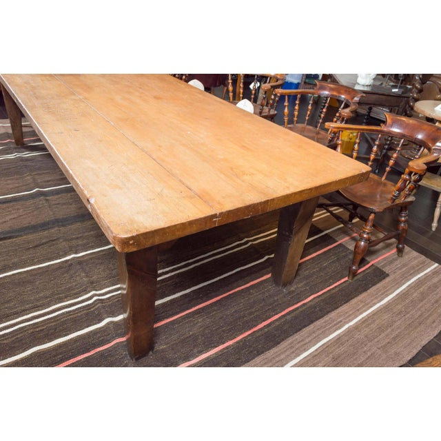 Brown 1840's English Farm House Table For Sale - Image 8 of 9