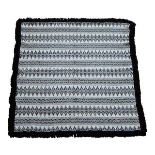 20th Century Swedish Weave on Monk Cloth Huck Embroidery Blanket For Sale