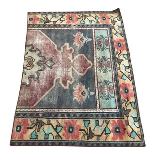 """Vintage Turkish Muted Rug-2'6'x3'5"""" For Sale"""