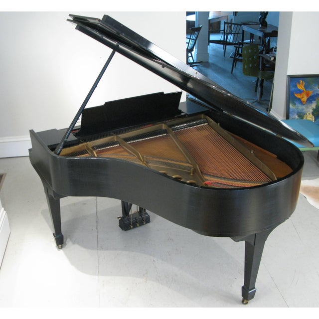Steinway & Sons 1912 Model M Ebony Piano For Sale - Image 4 of 12