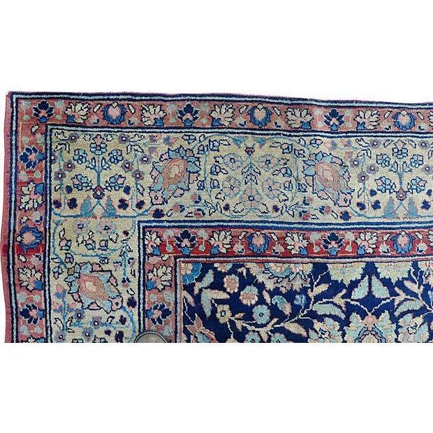 "Textile Antique Persian ""Tabriz"" Handmade Rug - 9′ × 12′ For Sale - Image 7 of 8"