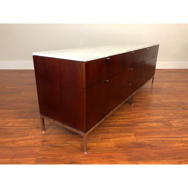 Knoll Florence Knoll Four Position Credenza With Marble Top For Sale - Image 4 of 13