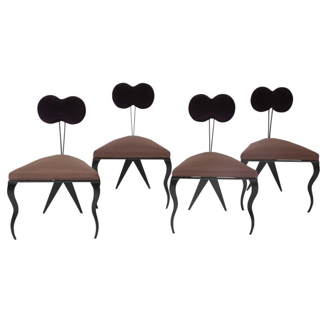 Upholstered Steel Frame Chairs by Joaquin Gasgonia Palencia - Set of 4 For Sale - Image 13 of 13