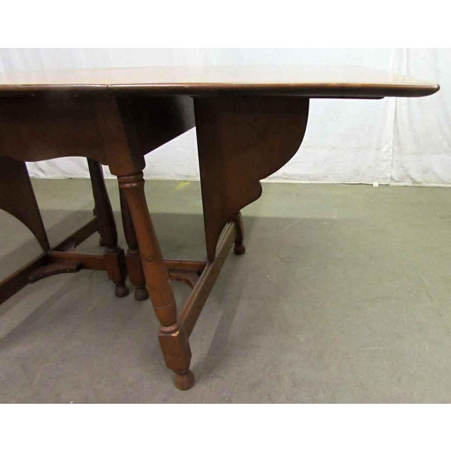 Antique Cherry Gate Leg Table For Sale - Image 4 of 7