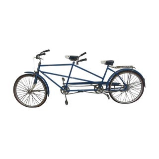Vintage Columbia Blue Two Seat Bicycle