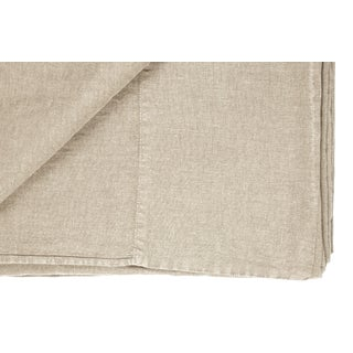 Once Milano Linen Top Sheet Cream For Sale