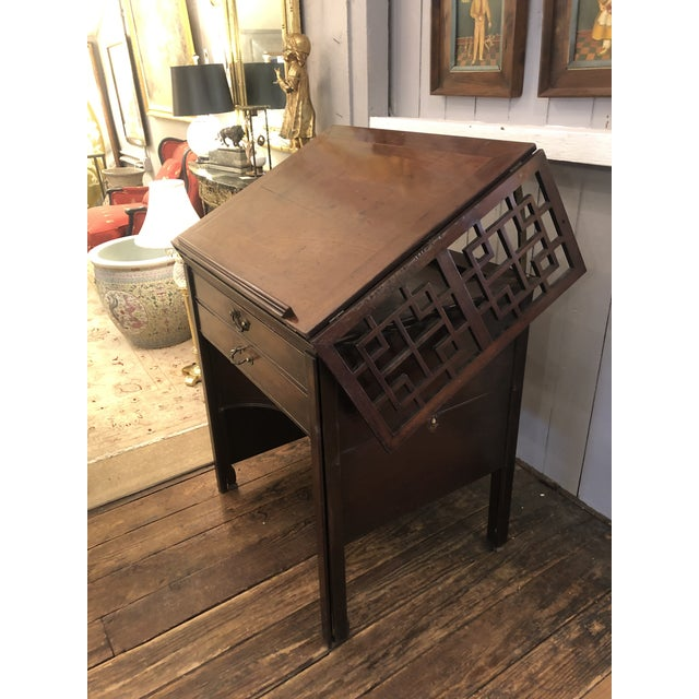 Brown Rare 19th Century Mahogany Mechanical Architect's Desk For Sale - Image 8 of 13