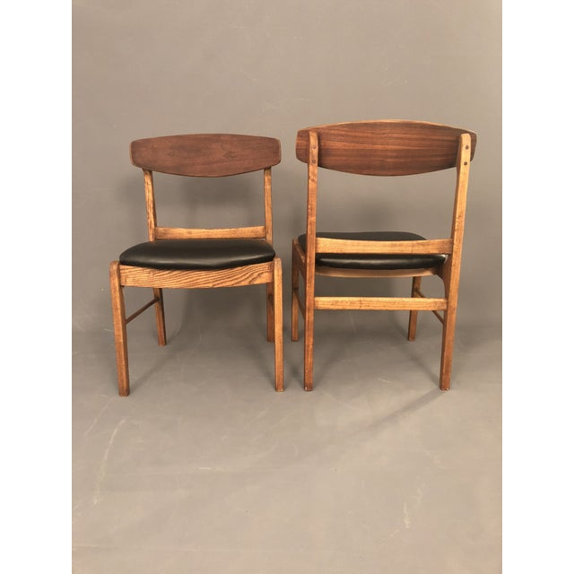 Plastic 1960s Danish Modern Walnut Dining Chairs - a Pair For Sale - Image 7 of 10